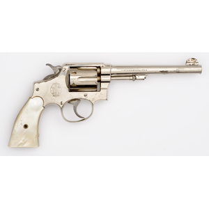 **Smith and Wesson Police Model Nickel Revolver