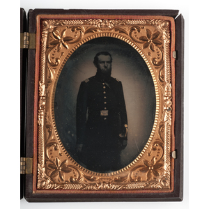 Quarter Plate Tintypes of Union Officers