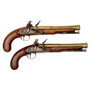 Pair of Flintlock Blunderbuss Pistols by Fothergill