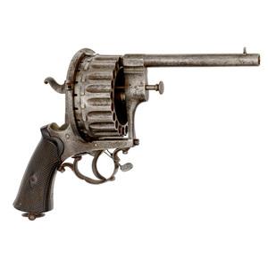 Belgian Twenty-Shot Pinfire Revolver