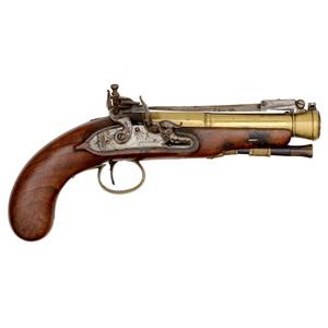 English Flintlock Blunderbuss Pistol