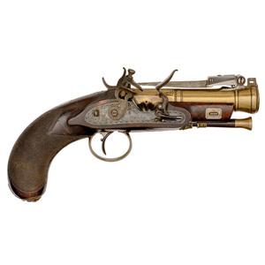 English Flintlock Blunderbuss Pistol by Bond