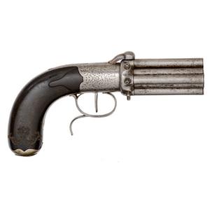 Belgian Eight-Shot Percussion Pistol