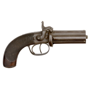 Double-Hammer Six-Shot Percussion Pepperbox by Purdey of London