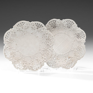 Staffordshire White Salt-Glazed Plates