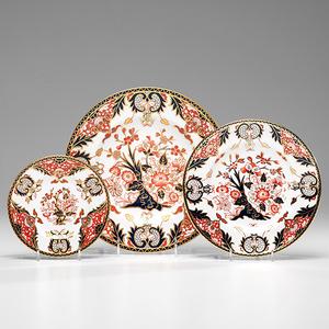 Royal Crown Derby Porcelain Kings Plates