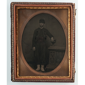 Quarter Plate Daguerreotype of a Young Zouave