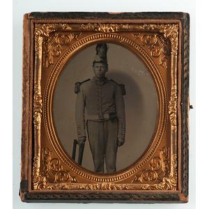 Civil War-Era Tintypes of Soldiers in Militia Uniforms