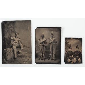Three Civil War-Era Tintypes of Militiamen
