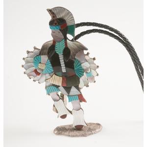 Zuni Jonathan Beyuka Inlaid Fancy Dancer Bolo For Pow Wow
