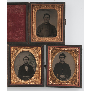 Patriotic Ninth Plate Images, Including Tintypes and of Young Civil War Soldiers, Plus