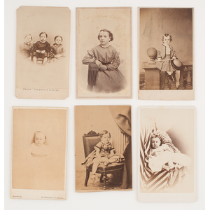 CDVs of Children, Featuring Children of the Battle Field, Plus Portrait by Southern Photographer G.S. Cook