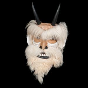 Joe David (Nuu-chah-nulth, b. 1946) Carved Wood Mask