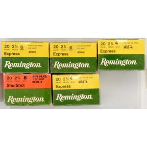 Remington Shotgun Shells Lot of Five Boxes