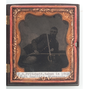 Sixth Plate Tintype of Sergeant P.S. Pritchett, 25th Wisconsin Infantry