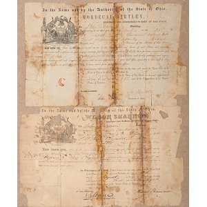 Mexican War-Period Militia Appointments for John Harmon, Signed by Ohio Governors Shannon and Bartley