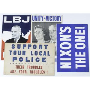 Lyndon B. Johnson and Richard Nixon Campaign Posters Plus