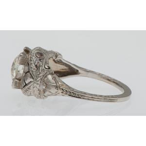 Diamond Filigree Ring in 18 Karat White Gold