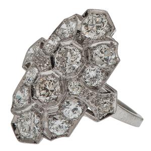 Diamond Filigree Ring in Platinum