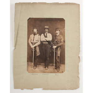Civil War-Era Scrapbook Containing Photograph of Identified Michigan Soldiers, Plus Additional Photos, Engravings, and Clippings