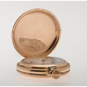 Waltham Hunter Case Pocket Watch in 14 Karat Yellow Gold