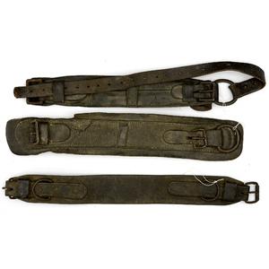 Lot of Three Civil War Model 1859 McClellan Saddle Leather Girths