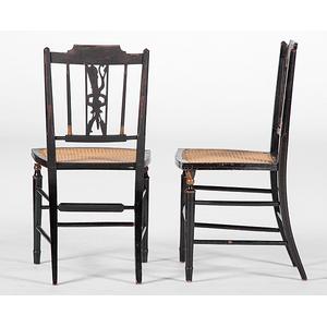 Three Federal Fancy Chairs