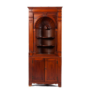 Federal-style Architectural Corner Cupboard