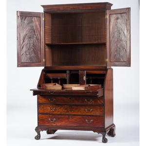New York Chippendale Desk and Bookcase