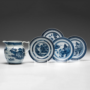 Chinese Export Nanking Pitcher and Plates