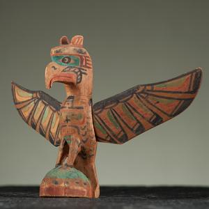 Charlie James (Kwakwaka'wakw, 1867-1938) Polychrome Wood Thunderbird
