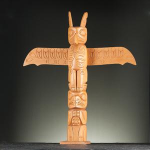 Willie Marks (Tlingit, 1901-1981) Attributed Wood Totem Pole