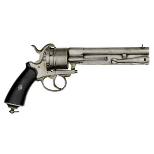 French Pinfire Revolver With Side Folding Bayonet