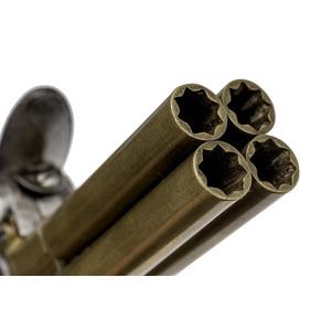 Brass Four Barrel Flintlock Pistol By Perry