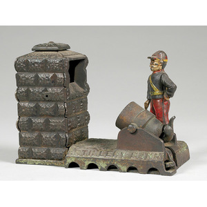 Shepard-Adams Cast Iron Mechanical Artillery Bank,