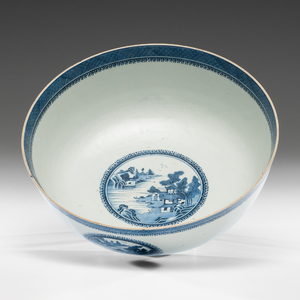 Nanking Footed Punch Bowl