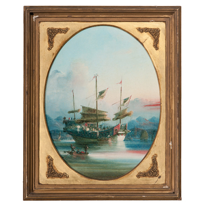 Five China Trade Paintings Attributed to Namcheong (active 1840-1870)