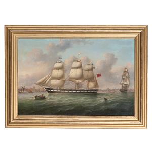 English School, The Birkby Ship in Harbor