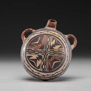 Hopi Polacca Pottery Canteen, Attributed to Nampeyo of Hano (1859-1942)