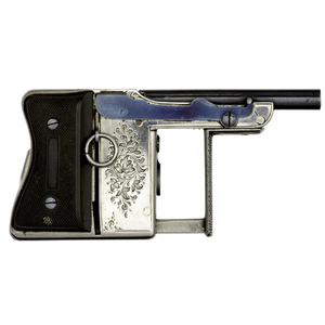 French Engraved Repeating Palm Pistol