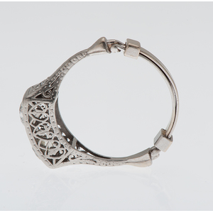 Two Diamond Filigree Ring in Platinum and 14 Karat White Gold