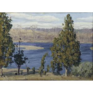 American School, Impressionist Spring Landscape