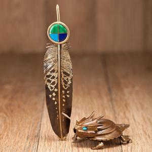 Charles Pratt (Cheyenne / Arapaho, b. 1937) Horny Toad and Feather