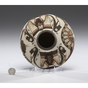 Lawrence Namoki (Hopi, b. 1949) Carved Pottery Jar