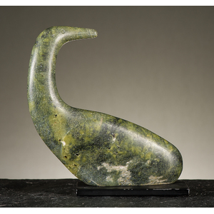 Sharky Nuna (Inuit, 1918-1979) Serpentine Sculpture