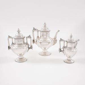William Gale & Son Three-Piece Sterling Tea Set