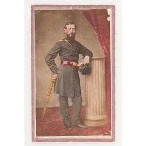Civil War Hand-Colored CDV of Colonel James Barnett, 1st Ohio Light Artillery
