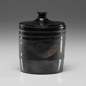 Maria Martinez (San Ildefonso, 1887-1980) Lidded Pottery Jar
