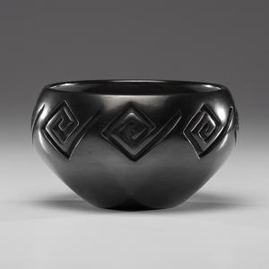 LuAnn Tafoya (Santa Clara, b. 1938) Carved Blackware Pottery Bowl