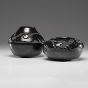 Juanita Gonzales (San Ildefonso, 1909-1988) Carved Pottery Jars